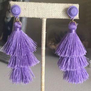 JCrew Purple Tassel Earrings